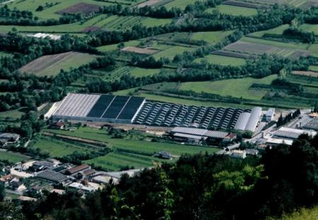Aerial view of Verona factory in Borso del Grappa, Italy