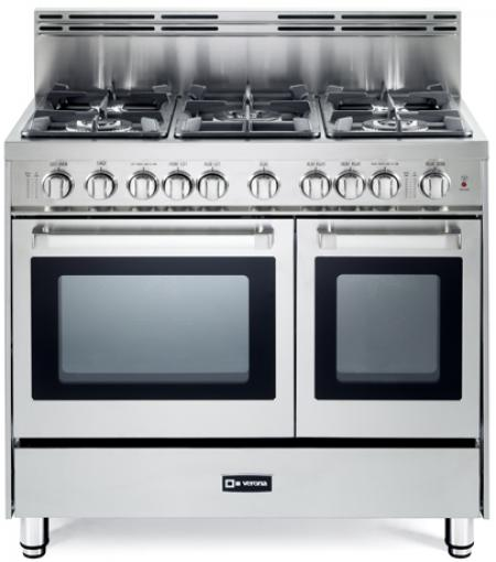 36 Quot Gas Double Oven Range N Series Verona Appliances