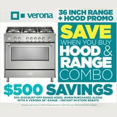 Verona Range Hood Promotion - January, 2020